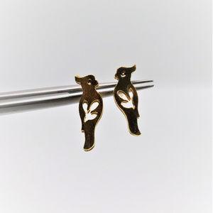 Little Bird Gold Plated Earrings